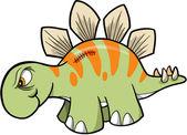 Tough Stegosaurus Dinosaur Vector — Stock Vector
