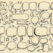 Sketch Doodle Vector Illustration set - Stock Vector