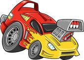 Race Car Street Car Vehicle Vector Illustration art — Stock Vector