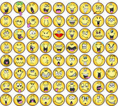 Emoticons emotie pictogram vectoren — Stockvector