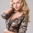 Curvy blonde girl — Stock Photo #10115038
