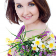 Stock Photo: Girl with bouquet