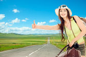 The girl travels — Stock Photo