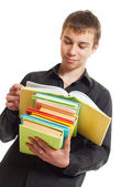 Student with books. — Stock Photo