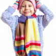 The girl in the hat scarf - Stock Photo