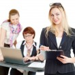 Stock Photo: Girls in office