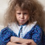 Little girl angry — Stock Photo #9723848