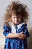 Little girl angry — Stock Photo