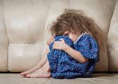 Sad little girl. — Stock Photo