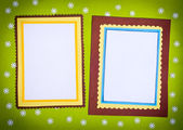 Frame made ​​of paper — Stock Photo
