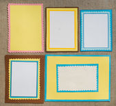 Frame made of paper — Stock Photo