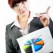 Business woman with diagram — Stock Photo