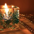 New Year's candle — Stock Photo