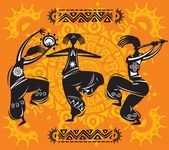 Figuras de dança — Vetorial Stock