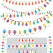 Pattern brash - garland of colored light — Stock Vector