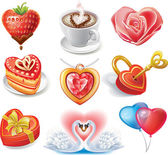 Heart-shaped set — Stock Vector