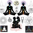 Royalty-Free Stock Vector: Chakras and esoteric symbols