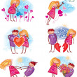 couple in love — Stock Vector