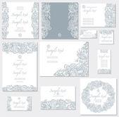 結婚式のカードのためのベクトル テンプレート — ストックベクタ