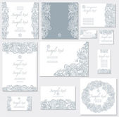 Vector template for wedding cards — Vector de stock