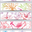 Vector de stock : Banners with flower