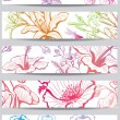 Royalty-Free Stock Imagen vectorial: Banners with flower