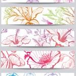 banners com flor — Vetorial Stock