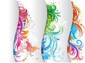 Ensemble de bannières colorées. — Vecteur