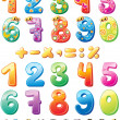 Colorful children numbers — Stock Vector #9784351