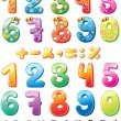 Stock Vector: Colorful children numbers