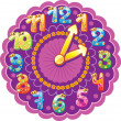 Royalty-Free Stock Vector Image: Funny clock for kids