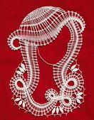 Make bobbin lace — Stock Photo