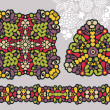 Royalty-Free Stock Vektorový obrázek: Decoration shapes and psychedelic seamless ornament.