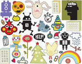 Mix of different vector images and icons. vol.36 — Stock Vector