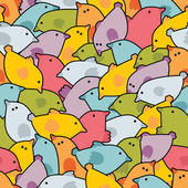 Disorder with cute birds. — Stok Vektör