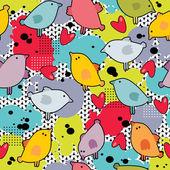 Disorder with cute birds. — Stock Vector