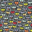Royalty-Free Stock Vector Image: Crowd of owls.