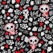 Crazy babies seamless pattern. - Stock vektor