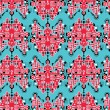 Big robots seamless pattern in red. — Vettoriali Stock