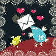 Royalty-Free Stock Vektorgrafik: Cute birds with the envelopes.
