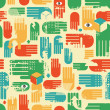 Royalty-Free Stock Vector Image: Seamless pattern with arms.