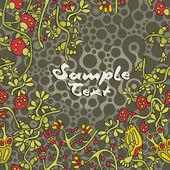 Achtergrond met psychedelische flora. — Stockvector