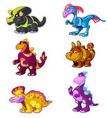 Dino_vector_set_01_ink — Vettoriale Stock