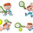 Royalty-Free Stock Vector Image: Collection of cartoon tennis players