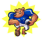 Football_bear_01 — Stock Vector