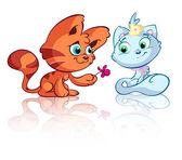 Gato vermelho bonito no amor — Vetorial Stock