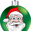 Santa Face Ornament — Stock Vector