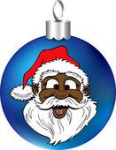 Ornement de visage de Santa — Vecteur
