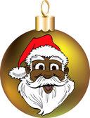 Santa Face Ornament — Stock Vector