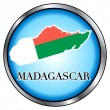 Madagascar Round Button — Stock Vector